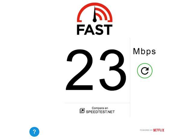 Test de velocidad de Internet de Netflix